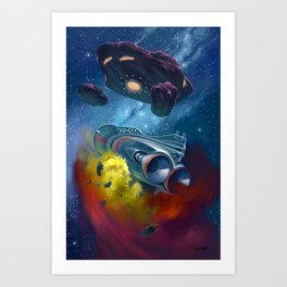 Disaster in Deep Space Art Print