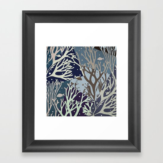 Under the Sea - Abstract Framed Art Print