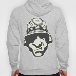 Angry Face With A Bucket Hat Hoody