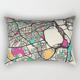 Colorful City Maps: Arlington County, Virginia Rectangular Pillow