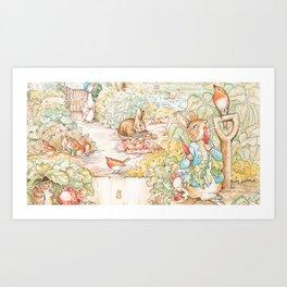 The World of Beatrix Potter illustration Art Print