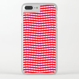 Red Pink and White Zigzag Optical Illusion Pattern Clear iPhone Case