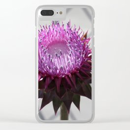 Bull Thistle Clear iPhone Case