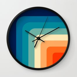 80s Vintage pattern Wall Clock