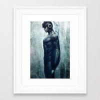 mega man Framed Art Prints featuring Mega Real Man by Artgerm™