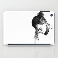 harry styles iPad Cases featuring Braids by Judit Mallol
