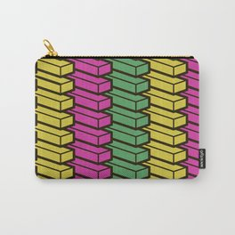 colorful abstract cube pattern Carry-All Pouch