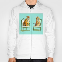 animals in chairs # 21 The Tigers Hoody
