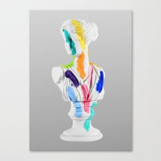 A Grecian Bust With Color Tests Canvas Print