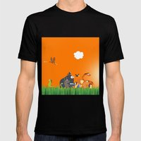 What's going on in the jungle? Kids collection MEDIUM Mens Fitted Tee Black