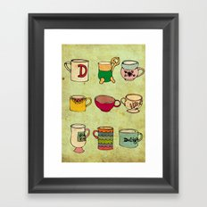 My Mugs! Framed Art Print