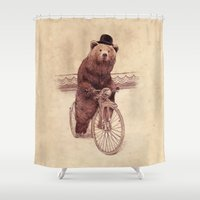 jazzberry Shower Curtains featuring Barnabus by Eric Fan