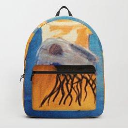 still life with skull Backpack