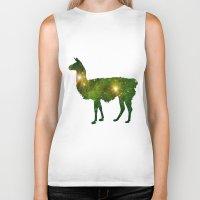 llama Biker Tanks featuring Llama by Lucas de Souza