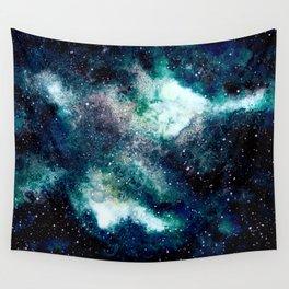 Dreamy Cloud Galaxy, Blue Wall Tapestry