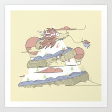 Dragon ride Art Print