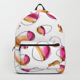 Pink and gold eggs Backpack