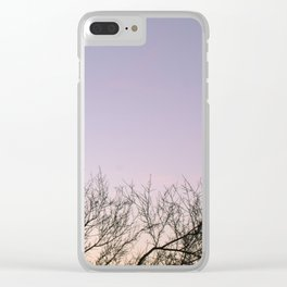Sunset Cacti Clear iPhone Case