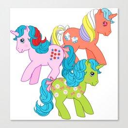 g1 my little pony unicorns Canvas Print