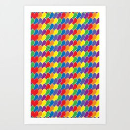 Pride Heart Scale Pattern Art Print