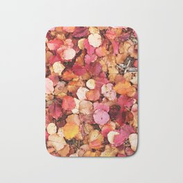 Christmas Leaves in Sonoma County Bath Mat