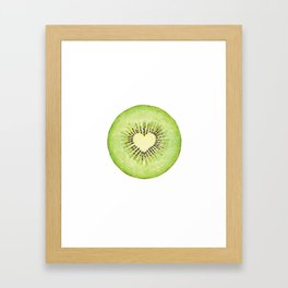 Kiwi illustration, green fruit Framed Art Print