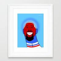 dj Framed Art Prints featuring DJ by Guy  Killum Illustration
