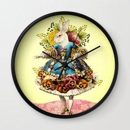 Elegant Rabbit Wall Clock