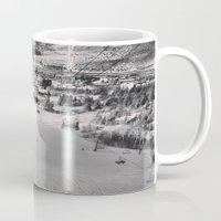 ski Mugs featuring Ski town by snowboardobsessed350