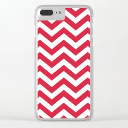 Red Chevron Pattern. Colorful zig zag stripe desig Clear iPhone Case