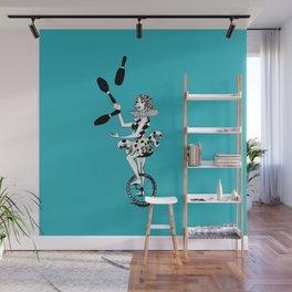 Juggling Unicyclist Wall Mural