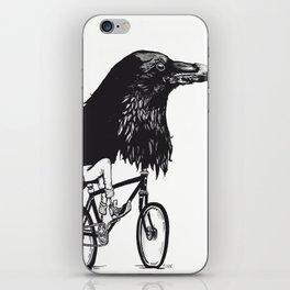 Black Bird Riding iPhone Skin