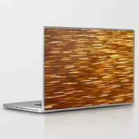 gold glitter Laptop & iPad Skins featuring Gold Glitter 1394 by Cecilie Karoline