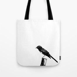 Wagtail inked Tote Bag
