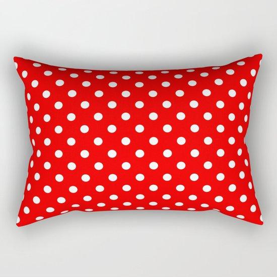 Girls just wanna have dots - red/white Rectangular Pillow