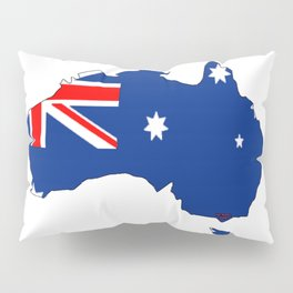 Australia Map with Australian Flag Pillow Sham
