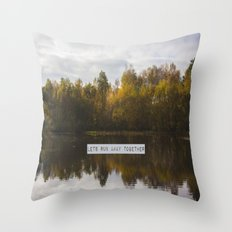 Lets Run Away Together Throw Pillow