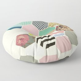 Florals and Stripes Floor Pillow
