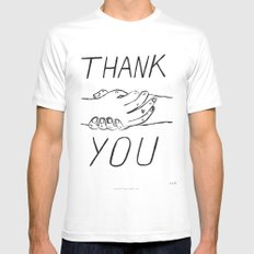 Thank you ! Mens Fitted Tee White MEDIUM