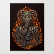 lord of goat Canvas Print