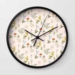 Garden Tale Pattern Wall Clock
