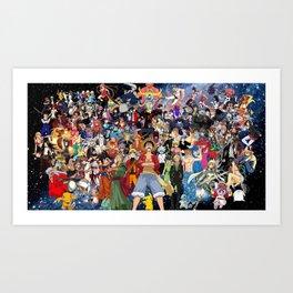 Anime All v3 Art Print