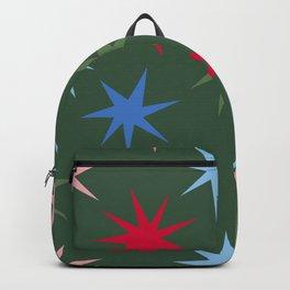 Colourful Sparkles - Christmas Palette - Dark Green Backpack