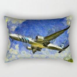 Airliner Van Gogh Rectangular Pillow