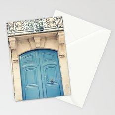 Paris door, pastel blue II Stationery Cards
