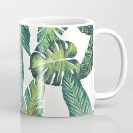 Jungle Leaves, Banana, Monstera II #society6 Coffee Mug