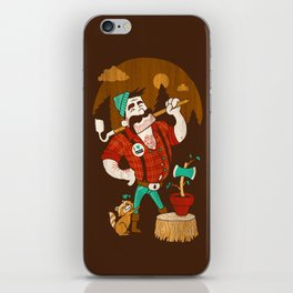 Green Thumberjack iPhone Skin