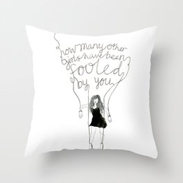 Fool Number One Throw Pillow