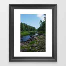 Boundary Waters River Framed Art Print
