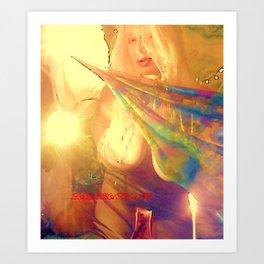 NUDE BLOND BIG BOOBS LADYKASHMIR HAPPY VALENTINES DAY Art Print
